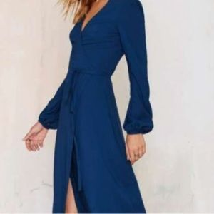 Mast Gal Teal Wrap Maxi Dress
